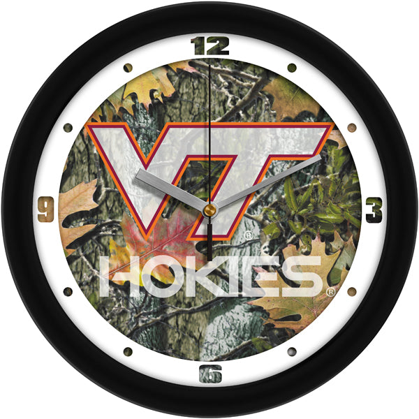 Virginia Tech Hokies - Camo Wall Clock