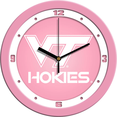 Virginia Tech Hokies - Pink Wall Clock