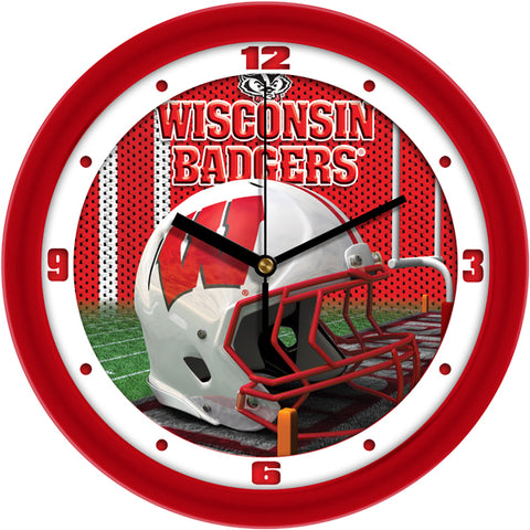 Wisconsin Badgers - Football Helmet Wall Clock