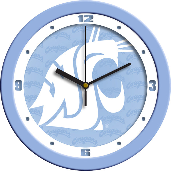 Washington State Cougars - Baby Blue Wall Clock
