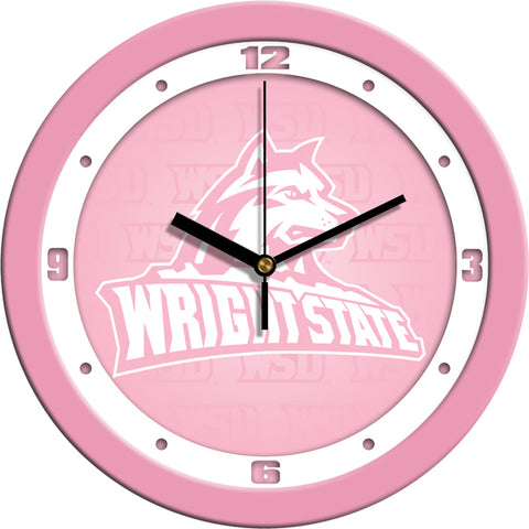 Wright State Raiders - Pink Wall Clock