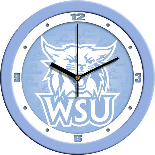 Weber State Wildcats - Baby Blue Wall Clock