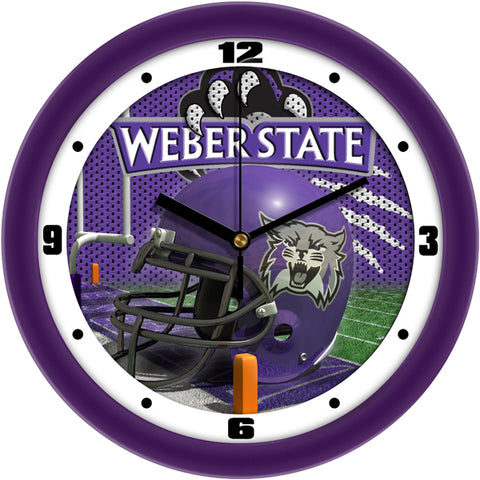 Weber State Wildcats - Football Helmet Wall Clock