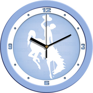 Wyoming Cowboys - Baby Blue Wall Clock