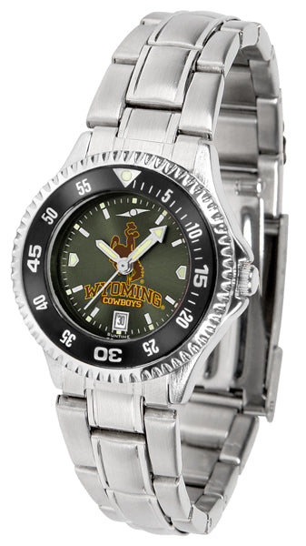Wyoming Cowboys - Competitor Ladies' Steel AnoChrome  -  Color Bezel