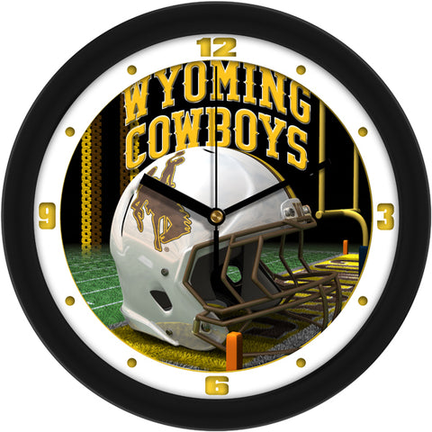 Wyoming Cowboys - Football Helmet Wall Clock
