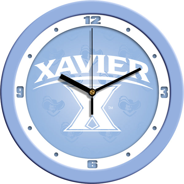 Xavier Musketeers - Baby Blue Wall Clock