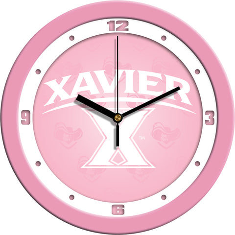 Xavier Musketeers - Pink Wall Clock