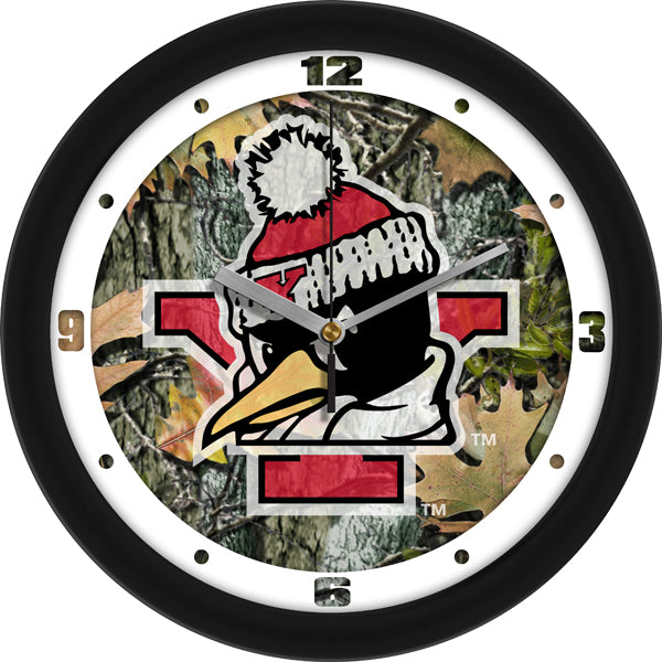 Youngstown State Penguins - Camo Wall Clock