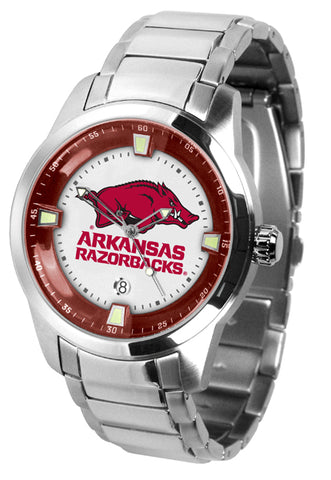 Arkansas Razorbacks - Men's Titan Steel Watch