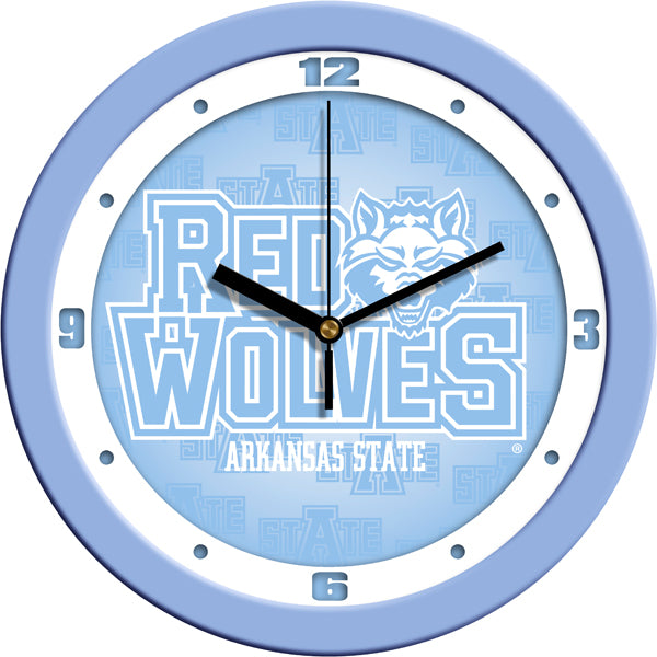 Arkansas State Red Wolves - Baby Blue Wall Clock