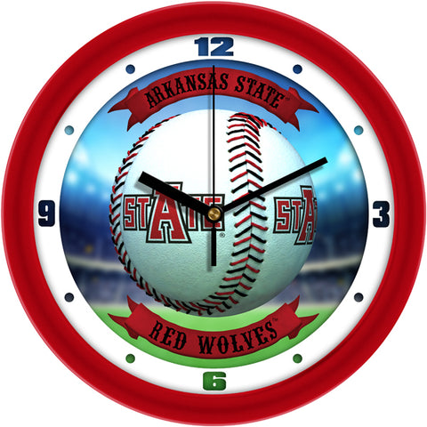 Arkansas State Red Wolves - Home Run Wall Clock
