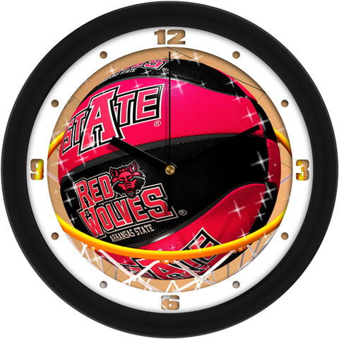 Arkansas State Red Wolves - Slam Dunk Wall Clock