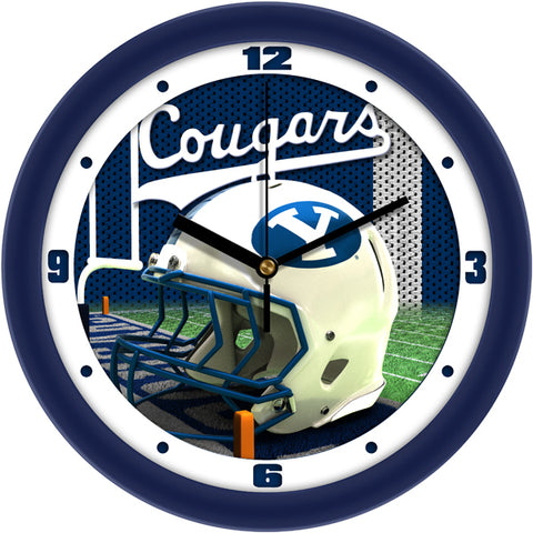 Brigham Young Univ. Cougars - Football Helmet Wall Clock - SuntimeDirect