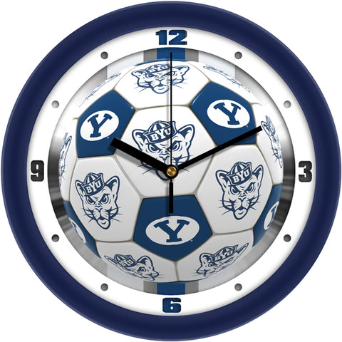 Brigham Young Univ. Cougars - Soccer Wall Clock - SuntimeDirect