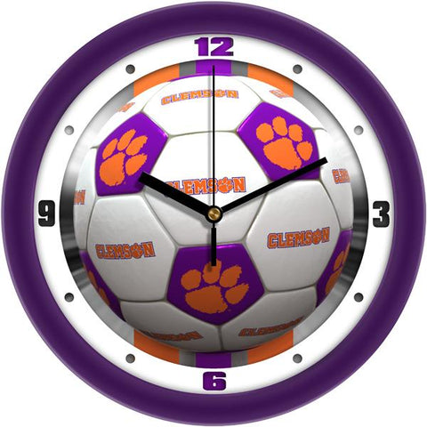 Clemson Tigers - Soccer Wall Clock - SuntimeDirect