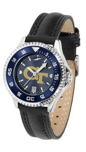 Georgia Tech Yellow Jackets - Competitor Ladies' AnoChrome  -  Color Bezel - SuntimeDirect