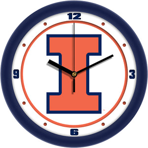 Illinois Fighting Illini - Traditional Wall Clock - SuntimeDirect