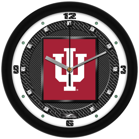 Indiana Hoosiers - Carbon Fiber Textured Wall Clock