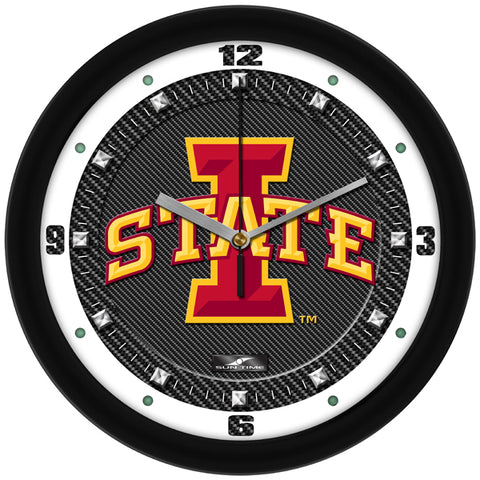 Iowa State Cyclones - Carbon Fiber Textured Wall Clock - SuntimeDirect