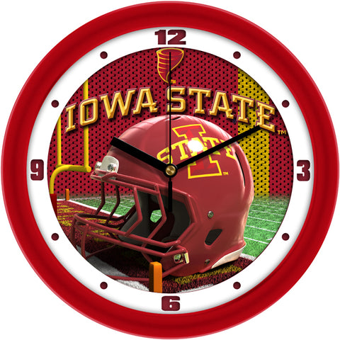 Iowa State Cyclones - Football Helmet Wall Clock - SuntimeDirect