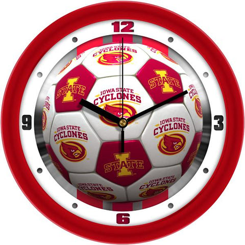 Iowa State Cyclones - Soccer Wall Clock - SuntimeDirect