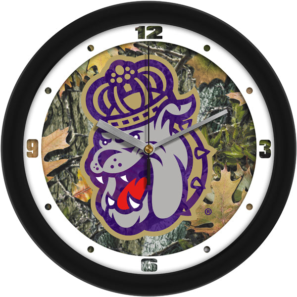 James Madison Dukes - Camo Wall Clock - SuntimeDirect