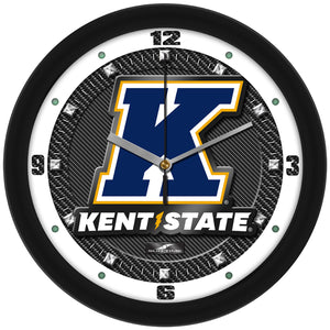 Kent State Golden Flashes - Carbon Fiber Textured Wall Clock