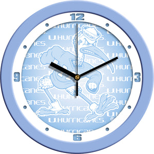 Miami Hurricanes - Baby Blue Wall Clock