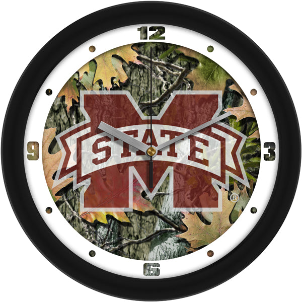Mississippi State Bulldogs - Camo Wall Clock - SuntimeDirect