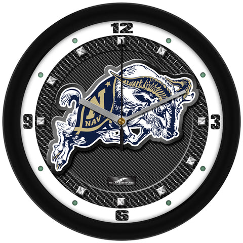 Naval Academy Midshipmen - Carbon Fiber Textured Wall Clock