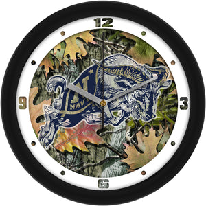 Naval Academy Midshipmen - Camo Wall Clock - SuntimeDirect