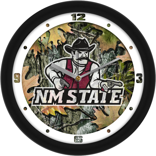 New Mexico State Aggies - Camo Wall Clock - SuntimeDirect