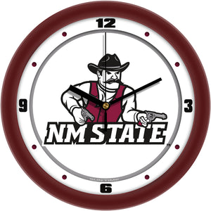 New Mexico State Aggies - Traditional Wall Clock - SuntimeDirect