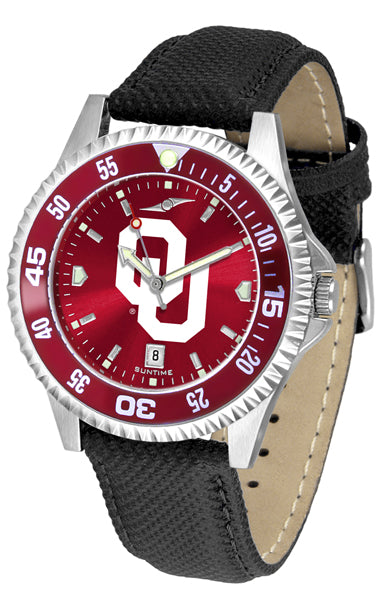 Oklahoma Sooners - Competitor AnoChrome  -  Color Bezel - SuntimeDirect