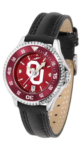 Oklahoma Sooners - Competitor Ladies' AnoChrome  -  Color Bezel - SuntimeDirect
