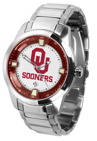 Oklahoma Sooners - Men's Titan Steel Watch