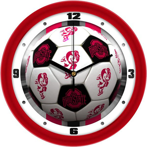 Ohio State Buckeyes - Soccer Wall Clock - SuntimeDirect