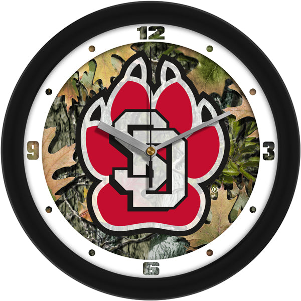 South Dakota Coyotes - Camo Wall Clock - SuntimeDirect