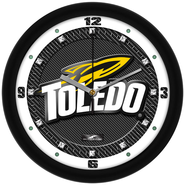 Toledo Rockets - Carbon Fiber Textured Wall Clock - SuntimeDirect