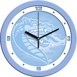Alabama UAB Blazers - Baby Blue Wall Clock