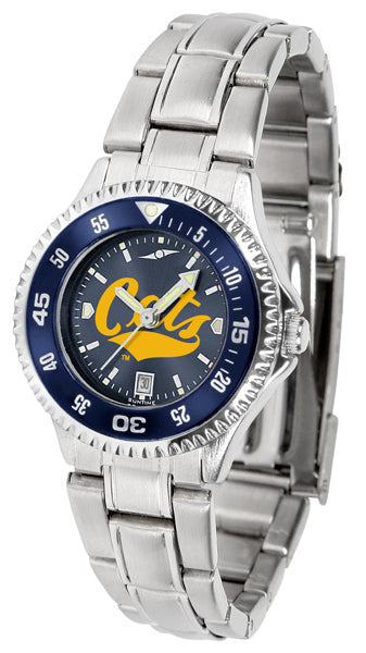 Montana State Bobcats - Competitor Ladies' Steel AnoChrome  -  Color Bezel