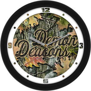 Wake Forest Demon Deacons - Camo Wall Clock