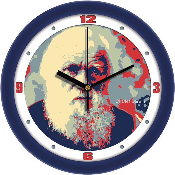 Suntime Historical Series Evolution Pioneer Charles Darwin Wall Clock