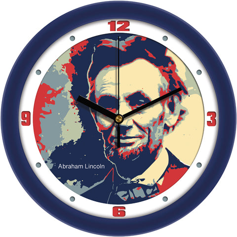 Suntime Historical Series President Abraham Lincoln Wall Clock