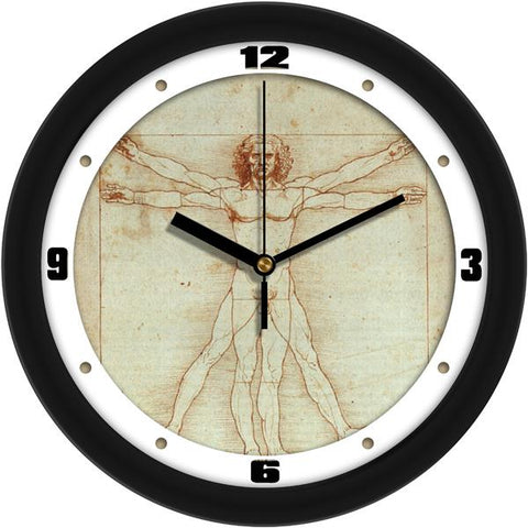 DaVinci Vitruvian Man Decorative Wall Clock - SuntimeDirect