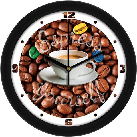 Espresso Yourself Decorative Wall Clock - SuntimeDirect