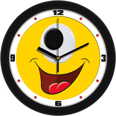 Silly Happy Cyclops Face Children's Room Decorative Wall Clock