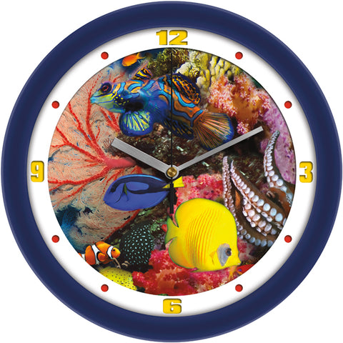 Vibrant Under The Sea Fish Decorative Wall Clock