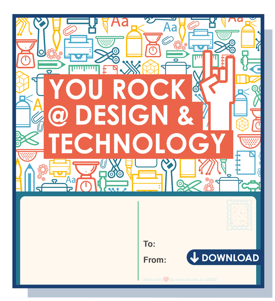 You rock @ D&Tdigital postcard